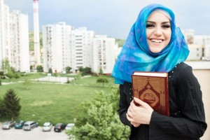 Muslim Woman with Quran compressed
