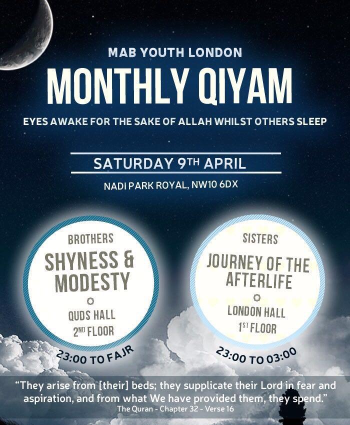 Qiyam Ul Layl Programme