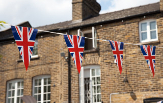 Union Jack Fhnchen mit Haus