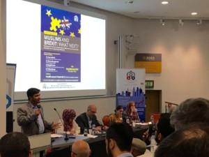 Talha Ahmad addressing the audience