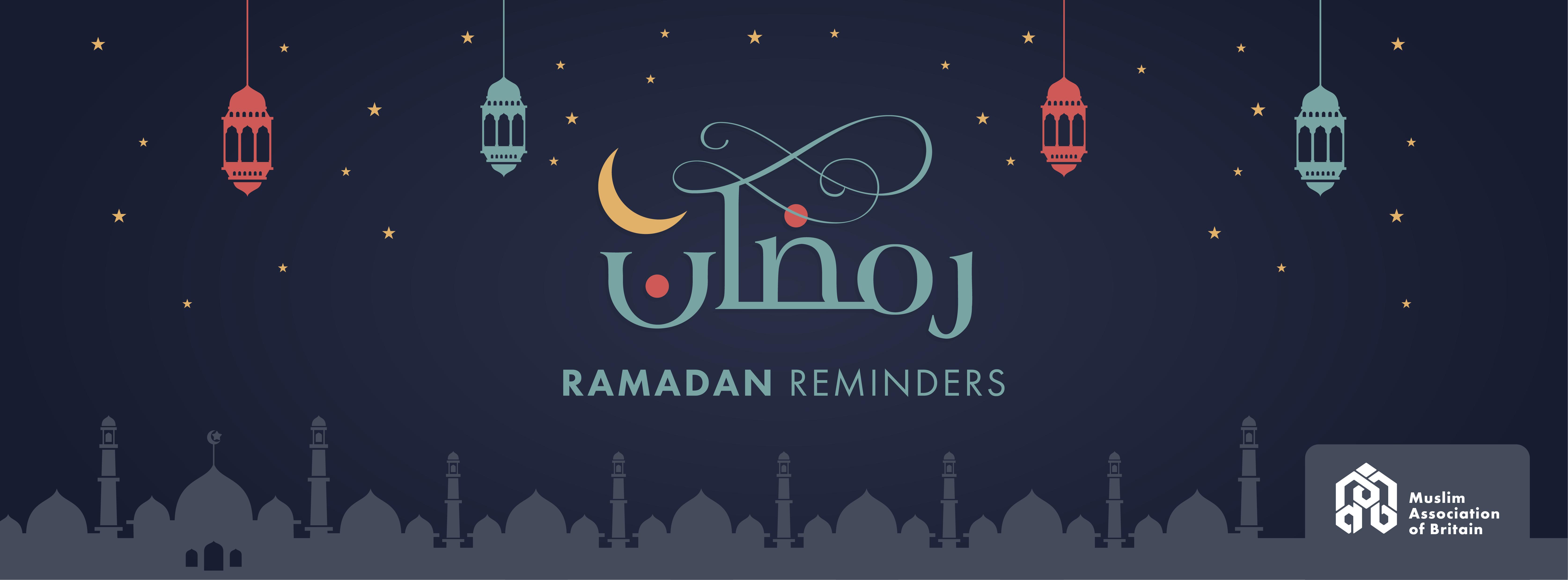 Ramadan Reminder 1 To The Fastinga Greeting Muslim Association